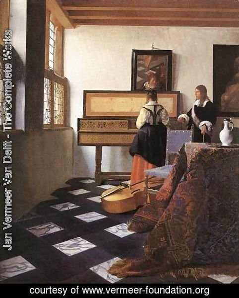 Jan Vermeer Van Delft - A Lady at the Virginals with a Gentleman 1662-65