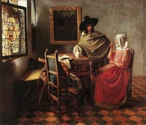 A Lady Drinking and a Gentleman c. 1658