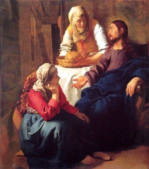 Jan Vermeer Van Delft - Christ in the House of Martha and Mary 1654-55