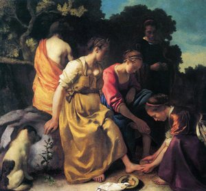 Jan Vermeer Van Delft - Diana and her Companions 1655-56