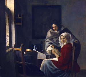 Jan Vermeer Van Delft - Girl Interrupted at Her Music 1660-61