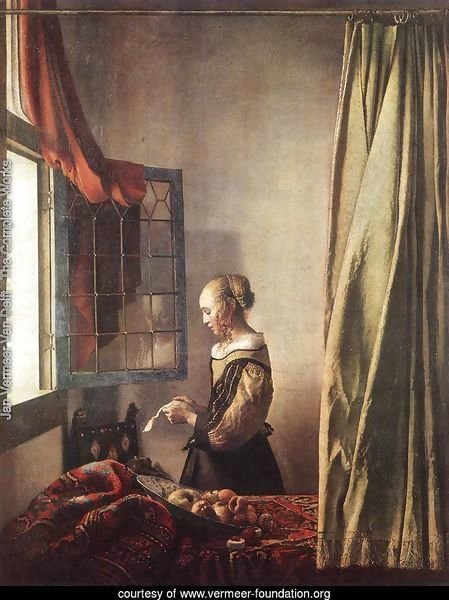 Girl Reading a Letter at an Open Window 1657