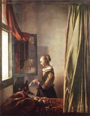 Jan Vermeer Van Delft - Girl Reading a Letter at an Open Window 1657