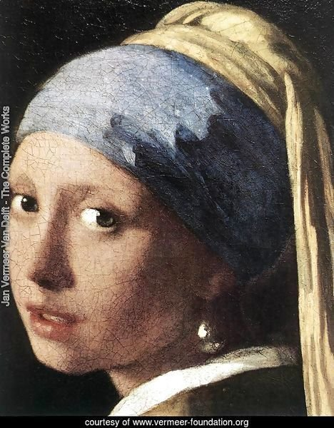 Girl with a Pearl Earring (detail-2) c. 1665