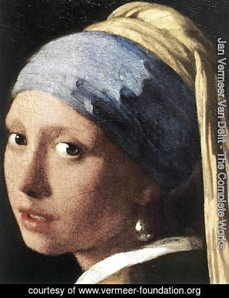 Jan Vermeer Van Delft - Girl with a Pearl Earring (detail-2) c. 1665