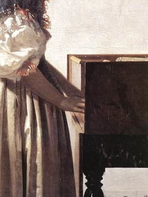 Lady Standing at a Virginal (detail-2) c. 1670