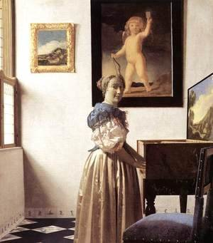 Jan Vermeer Van Delft - Lady Standing at a Virginal c. 1670