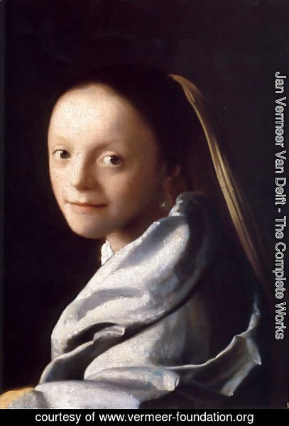Jan Vermeer Van Delft - Portrait of a Young Woman 1666-67