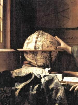 The Astronomer (detail) c. 1668