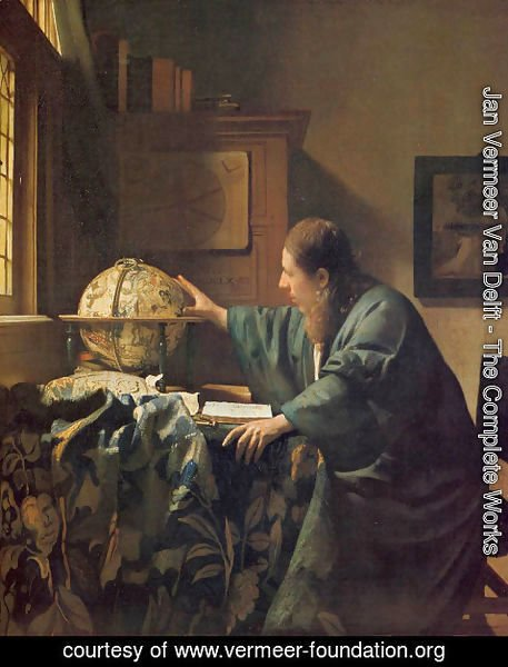 Jan Vermeer Van Delft - The Astronomer c. 1668