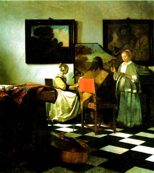 Jan Vermeer Van Delft - The Concert 1665-66