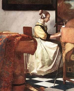 Jan Vermeer Van Delft - The Concert (detail-2)  1665-66