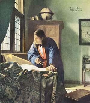 Jan Vermeer Van Delft - The Geographer c. 1668