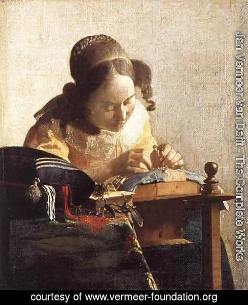 Jan Vermeer Van Delft - The Lacemaker 1669-70