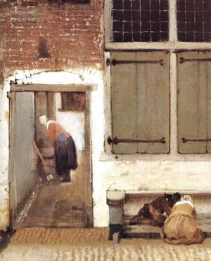 Jan Vermeer Van Delft - The Little Street (detail-2) 1657-58