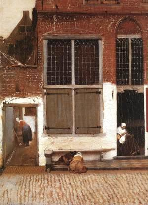 Jan Vermeer Van Delft - The Little Street (detail-3) 1657-58