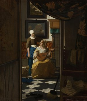 Jan Vermeer Van Delft - The Love Letter 1667-68