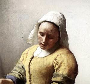 Jan Vermeer Van Delft - The Milkmaid (detail-1) c. 1658