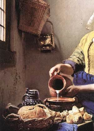 The Milkmaid (detail-2) c. 1658