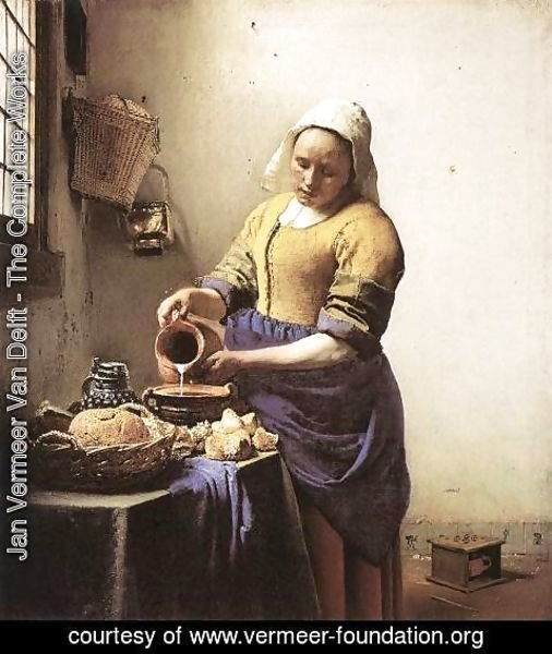 Jan Vermeer Van Delft - The Milkmaid c. 1658