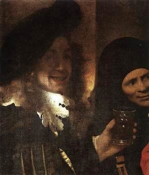 Jan Vermeer Van Delft - The Procuress (detail-2) 1656