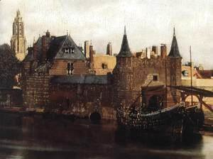 Jan Vermeer Van Delft - View of Delft (detail-1) 1659-60