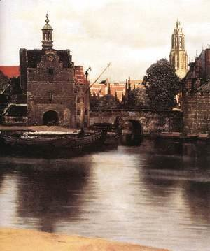 Jan Vermeer Van Delft - View of Delft (detail-3) 1659-60