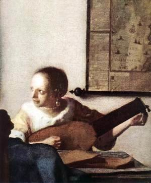 Jan Vermeer Van Delft - Woman with a Lute near a Window (detail) c. 1663