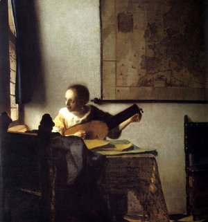 Jan Vermeer Van Delft - Woman with a Lute near a Window c. 1663