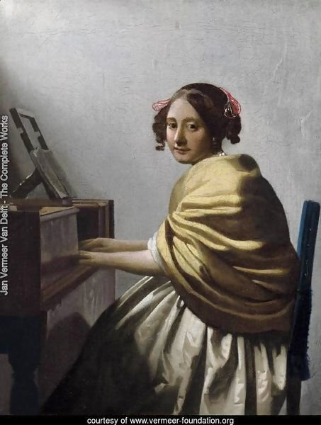 Young Woman Seated at the Virginals c. 1670