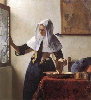 Jan Vermeer Van Delft - Young Woman with a Water Jug 1660-62