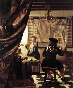 Jan Vermeer Van Delft - The Artist's Studio 1665