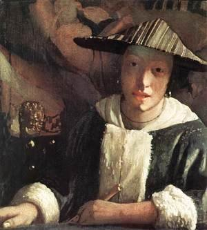 Jan Vermeer Van Delft - Young Girl with a Flute 1666-67