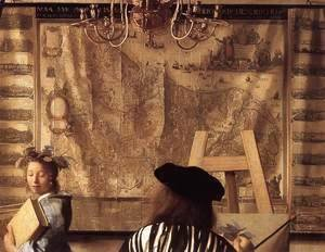Jan Vermeer Van Delft - The Art of Painting [detail: 1]
