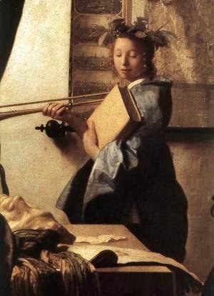 Jan Vermeer Van Delft - The Art of Painting [detail: 2]