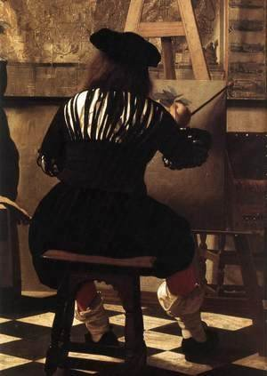 Jan Vermeer Van Delft - The Art of Painting [detail: 3]