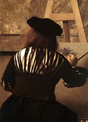 Jan Vermeer Van Delft - The Art of Painting [detail: 4]