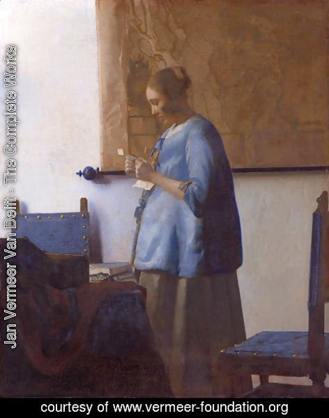 Jan Vermeer Van Delft - Woman Reading a Letter