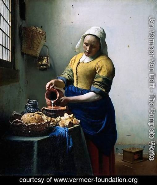 Jan Vermeer Van Delft - The Kitchen Maid