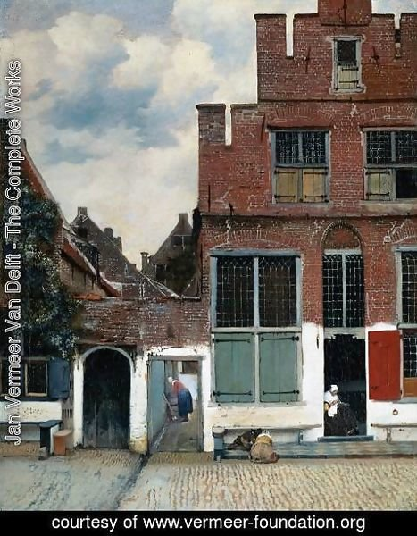 Jan Vermeer Van Delft - View of Houses in Delft, known as 'The Little Street'