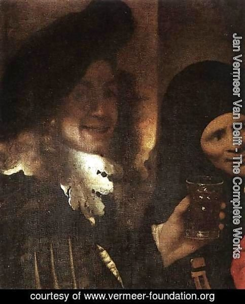 Jan Vermeer Van Delft - The Procuress [detail: 2]