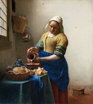 Jan Vermeer Van Delft - The Milkmaid