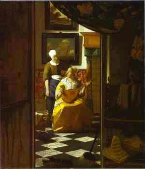 Jan Vermeer Van Delft - The Letter