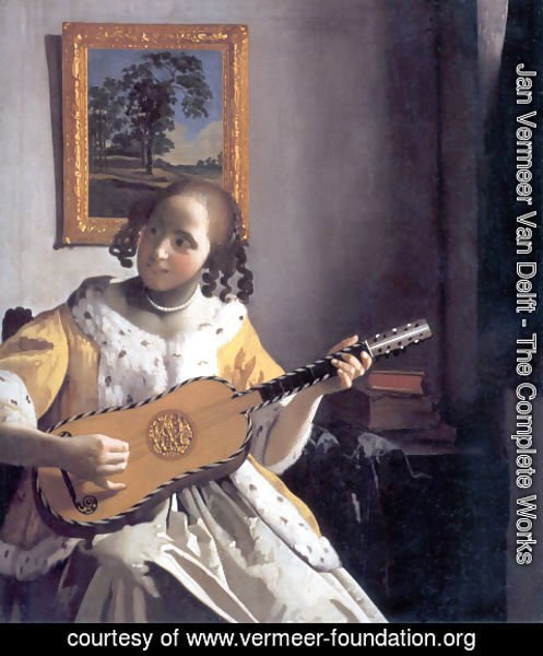 Jan Vermeer Van Delft - The Guitar Player