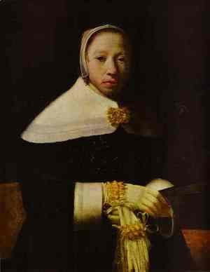 Jan Vermeer Van Delft - Portrait of a Woman