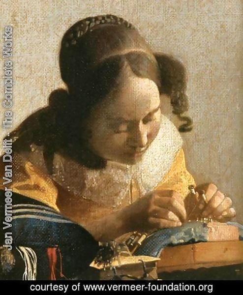 Jan Vermeer Van Delft - The Lacemaker (detail)