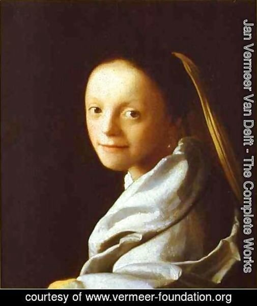 Jan Vermeer Van Delft - Head Of A Girl 1666-1667