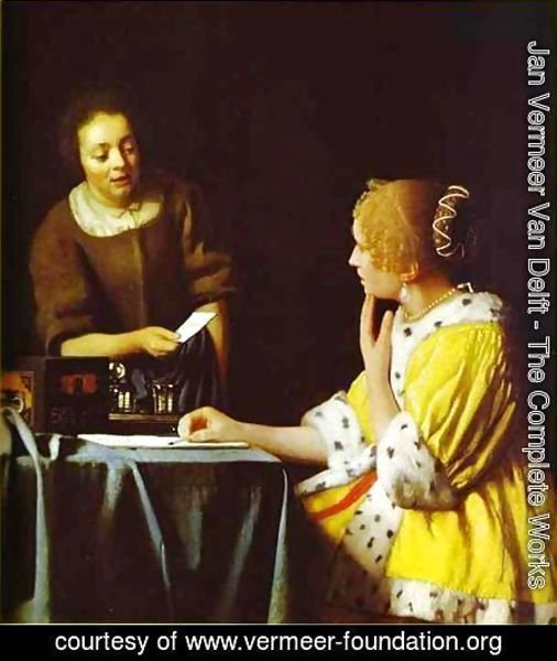 Jan Vermeer Van Delft - Lady Standing At A Virginal 1673-1675