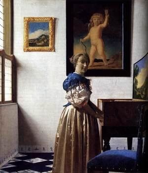 Jan Vermeer Van Delft - Lady With Her Maidservant 1667-1668