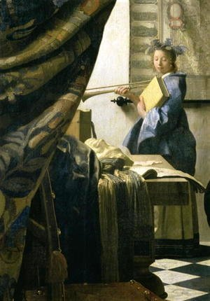 Jan Vermeer Van Delft - The Artist's Studio 1665 6